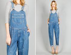 Ela Hawke Vintage // BLUE DENIM OVERALLS $69 // #elahawkevintage #denim #overalls #dungarees #vintage #shop #online #clothing #shopping #fashion