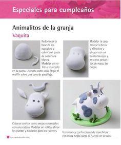 Marcela Capo Cupcakes Mini Tortillas, Cupcake Tutorial, Barnyard Party, Cupcake Frosting, Farm Animals, Piggy Bank, Polymer Clay, Bakery, Deserts