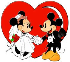 Mickey & Minnie wedding sweethearts