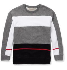 Casely-Hayford Mayweather Colour-Block Cotton-Blend Sweatshirt