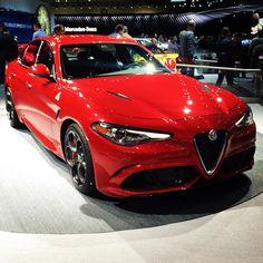 Alfa Romeo Giulia Quadrifoglio at LA Auto Show #alfaromeo #giulia  #quadrifoglio #alfa_romeo_de #laautoshow #backstage #autovideoreview #auto #car #carsofinstsgram
