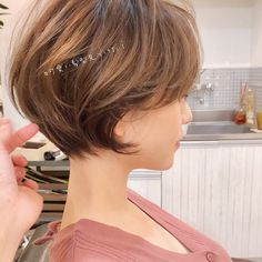 Copper Layered Bob with Bangs - 50 Classy Short Bob Haircuts and Hairstyles with Bangs - The Trending Hairstyle Blunt Bob Hairstyles, Short Bob Haircuts, Hairstyles With Bangs, Straight Hairstyles, Cool Hairstyles, Medium Hair Styles, Curly Hair Styles, Stacked Haircuts, Bobs For Thin Hair