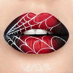 Spider Man Lip Art   #lipart #lips #makeup