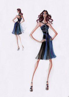 Design Fashion sketches of short dresses rare photo
