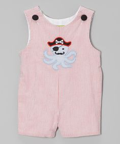 This Red Stripe Pirate Octopus John Johns - Infant & Toddler by Stellybelly is perfect! #zulilyfinds
