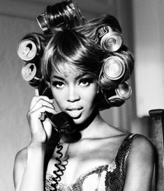 i have empty beer cans as rollers in my hair and you think you have problems, pinned by Ton van der Veer