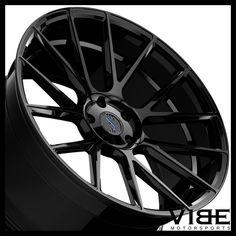 "22"" XO XF1 GLOSS BLACK FLOW FORM CONCAVE WHEELS RIMS FITS BENTLEY CONTINENTAL GT #XO #xf1 #bentley #continental #gt #wheels #concave #vibemotorsports"