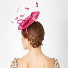 Debut Womens Pink Small Saucer Feather Bow Fascinator: Debut: Amazon.co.uk: Clothing