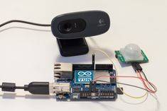 Maker designs a DIY wireless security camera built around an Atmel-based Arduino Yún (ATmega32u4), USB webcam, microSD card and a PIR motion detector.  #Atmel #Arduino #ArduinoYun #DIY #Makers #Wireless #Adafruit