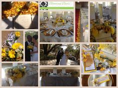 WEDDING : white, silver, shades of yellow.