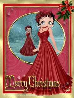 betty boop merry christmas to my family and friends love Mara