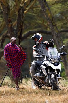 #BMW GS rider in Africa gets directions from a local