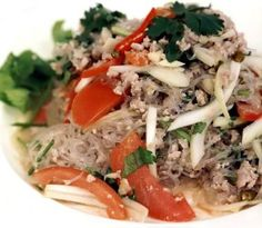 Spicy Glass Noodle Salad ~ Chiang Mai Thai Cookery School Recipe Collection