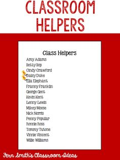Tuesday Teacher Tips: Classroom Helpers #TeachersFollowTeachers