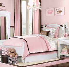 pink and brown bedroom