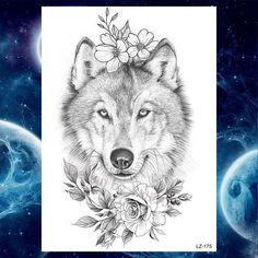 Wolf Tattoos For Women, Black Girls With Tattoos, Tattoos For Women Half Sleeve, Sleeve Tattoos, Wolf Girl Tattoos, Wolf Face Tattoo, Werewolf Tattoo, Husky Tattoo, Wolf Tattoo Forearm