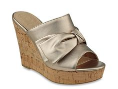 Women Hot Love Wedge Sandal -Gold Metallic Leather
