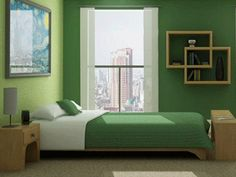 green bedroom decorating ideas green bedding and wall paint colors