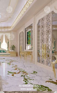Majlis interior design in a luxury classic and modern style. New design of 2020 year with exclusive decoration. Interior Design Solutions, Contemporary Interior Design, Home Interior Design, Luxury Home Decor, Traditional Interior Design, Luxury Homes Interior, Interior Design Dubai, Interior Architecture, Luxury House Interior Design