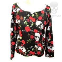 Blusa moletinho Skull