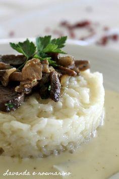 Lavanda e rosmarino: Risotto con funghi e gorgonzola