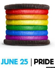 """huffingtonpost: """" Oreo cookies have found themselves in a debate after a picture was posted backing gay pride on its official Facebook page."""