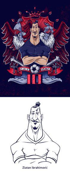 Ibrahimovic on Behance Football Art, Football Players, Illustrations, Illustration Art, 4k Wallpapers For Pc, Wallpaper Pc, Lionel Messi, Liverpool, Vector Art