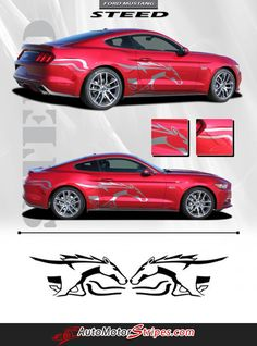 2015 2016 2017 Ford Mustang Stripes Side Door Horse Outline Decals and Vinyl Graphics Roush Mustang, Red Mustang, 2017 Ford Mustang, Mustang Cars, 2005 Mustang, Mustang Stripes, Horse Outline, Ford Classic Cars, Truck Accessories