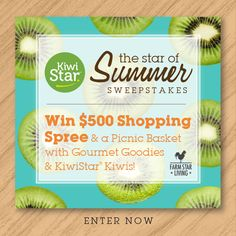 ae5c62ac1d2 Prizes include  500 Shopping Spree and a Picnic Basket with Gourmet Goodies  and KiwiStar Kiwis!