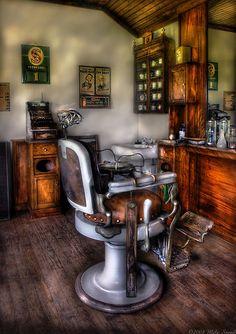 barber chair; Mike Savad