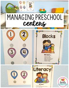 Organizing your preschool centers isn't always easy. Here is a way to manage how many students are in each play center using printable boards and magnetic names.