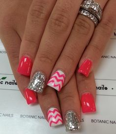 Instagram photo of acrylic nails by botanicnails Popular Nail Designs, Simple Nail Art Designs, Acrylic Nail Designs, Easy Nail Art, Acrylic Nails, Acrylics, Pretty Designs, Gorgeous Nails, Fabulous Nails