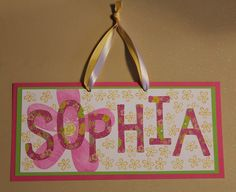 Sophia Name Sign Papercraft by KindnessPaper on Etsy, $12.00