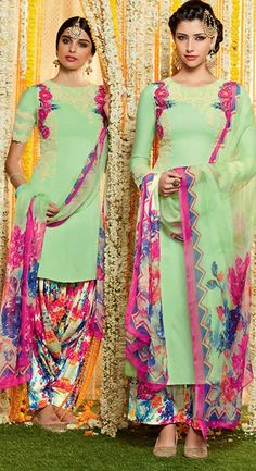 buy saree online Light Green Colour Pure Soft Cotton Satin With Embroidery Work…