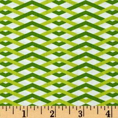 Designed by Emily Herrick for Michael Miller Fabrics. Colors include white and shades of lime.