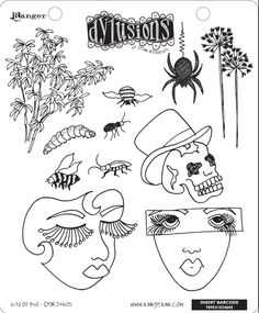 dylusions stamps | DYR34605 - Dylusions Rubber Stamps - Bits of This