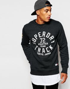 Superdry Sweatshirt with Superdry Track Print