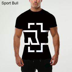 New Arrival Rammstein Men's 3D Digital Printing T-shirt