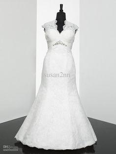 Wholesale Lace A Line Plus Size Wedding Dress Party Dress ZB-040, Free shipping, $174.72/Piece | DHgate