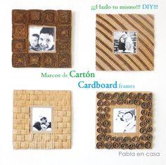 Frames using a cardboard box!!! DIY