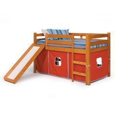 Alexander Tent Twin Loft Bed with Slide $449