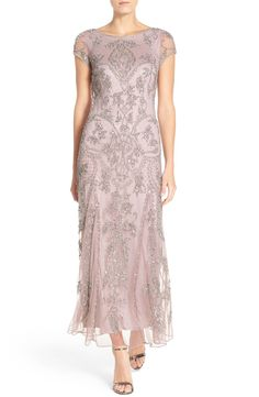 Main Image - Pisarro Nights Embellished Mesh Gown