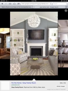 Living room idea: love the colors & contrast
