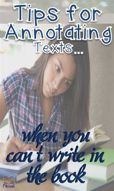 Tips for Annotating Text without writing in a borrowed book!<---Potentially helpful. Middle School Reading, Middle School English, Education English, Teaching English, English Resources, English Lessons, Interactive Notebook Rubric, Ap Language, English Language