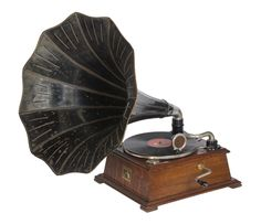 HMV Model 32 horn gramophone c Recording Equipment, Toned Arms, British Library, Horn, The Twenties, Novels, Kiss, France, History