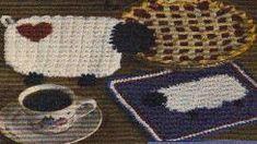 Free Crochet Sheep Heart Kitchen Set Patterns