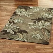 Palm Tree Bathroom Decor Ideas With Masculine Tropical Rugs For