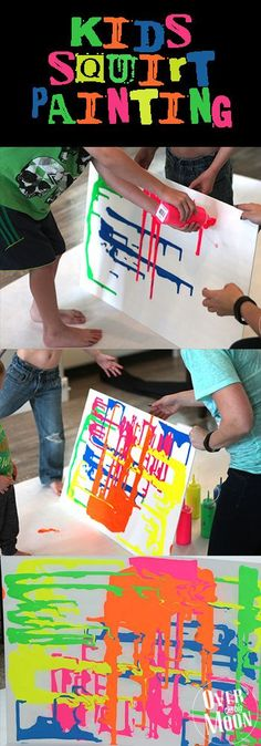 Kids Squirt Painting - kids love this!