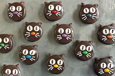 Black Cat Chocolate-Dipped Cookies are an easy, cute Halloween candy that's perfect for the kids to help with!