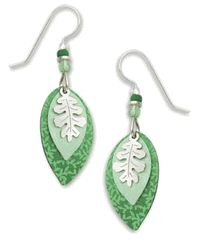 Adajio by Sienna Sky 3-part Mint Green Leaves with Silver Overlay 7311